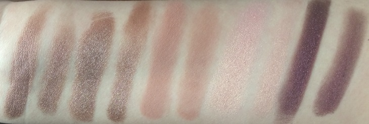 Natasha Denona Eyeshadow Palette 5 in 2 (Rosewood, Lavender Gray, Shell, Light Coral, and Maroon) swatches honest review