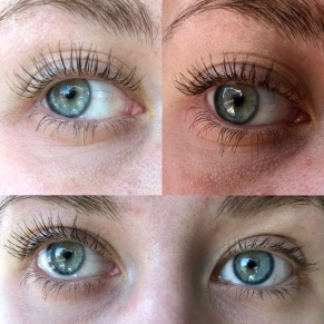 Glossier Lash Stick Mascara – there's no mascara on my eye on the bottom right